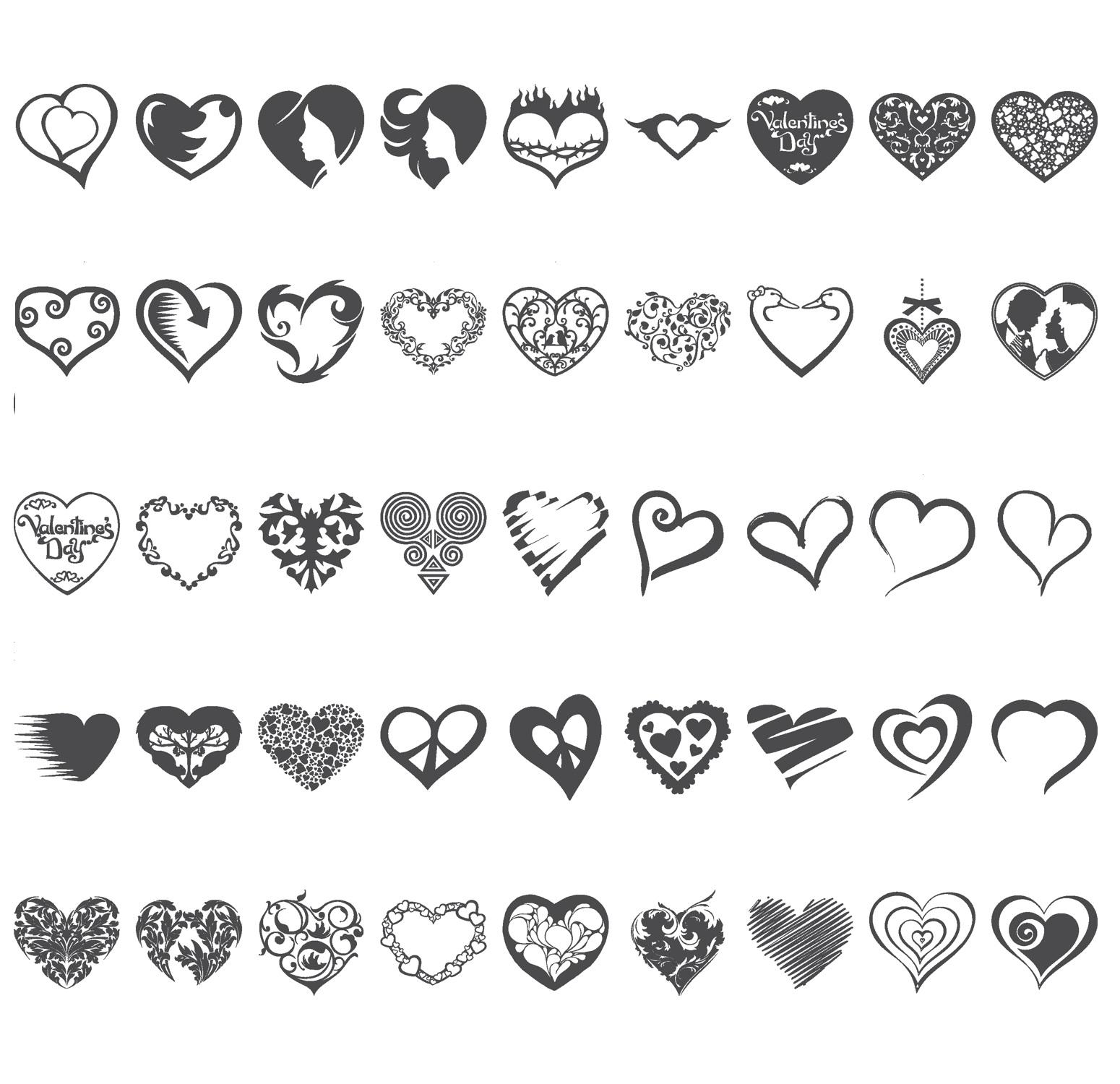 Laser Cut Engrave Valentine's Day Decor Free Vector