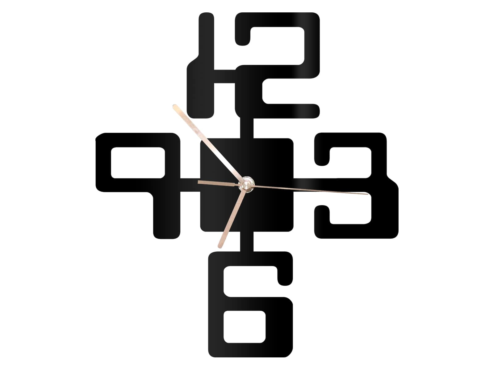Laser Cut Large Numbers Modern Wall Clock Free Vector