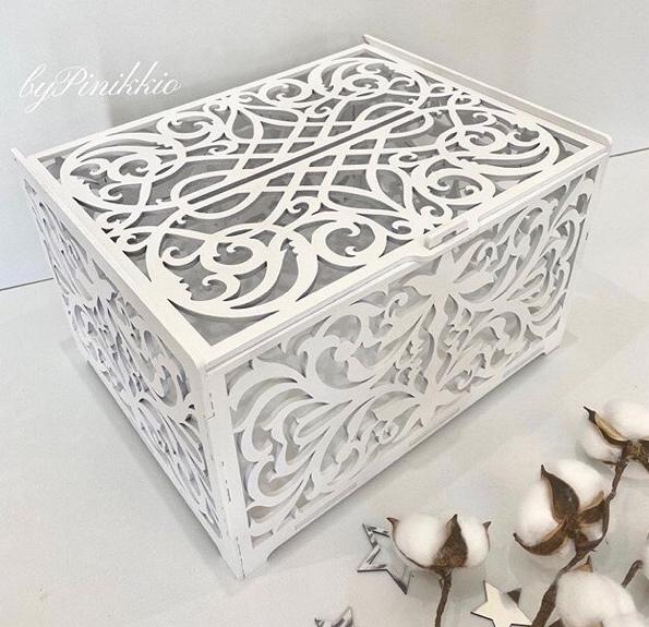 Laser Cut Wedding Card Box Birthday Decorations Wooden Card Box With Lock Free Vector
