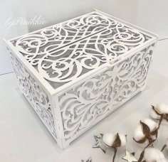 Laser Cut Wedding Card Box Birthday Decorations Wooden Card Box With Lock Free Vector