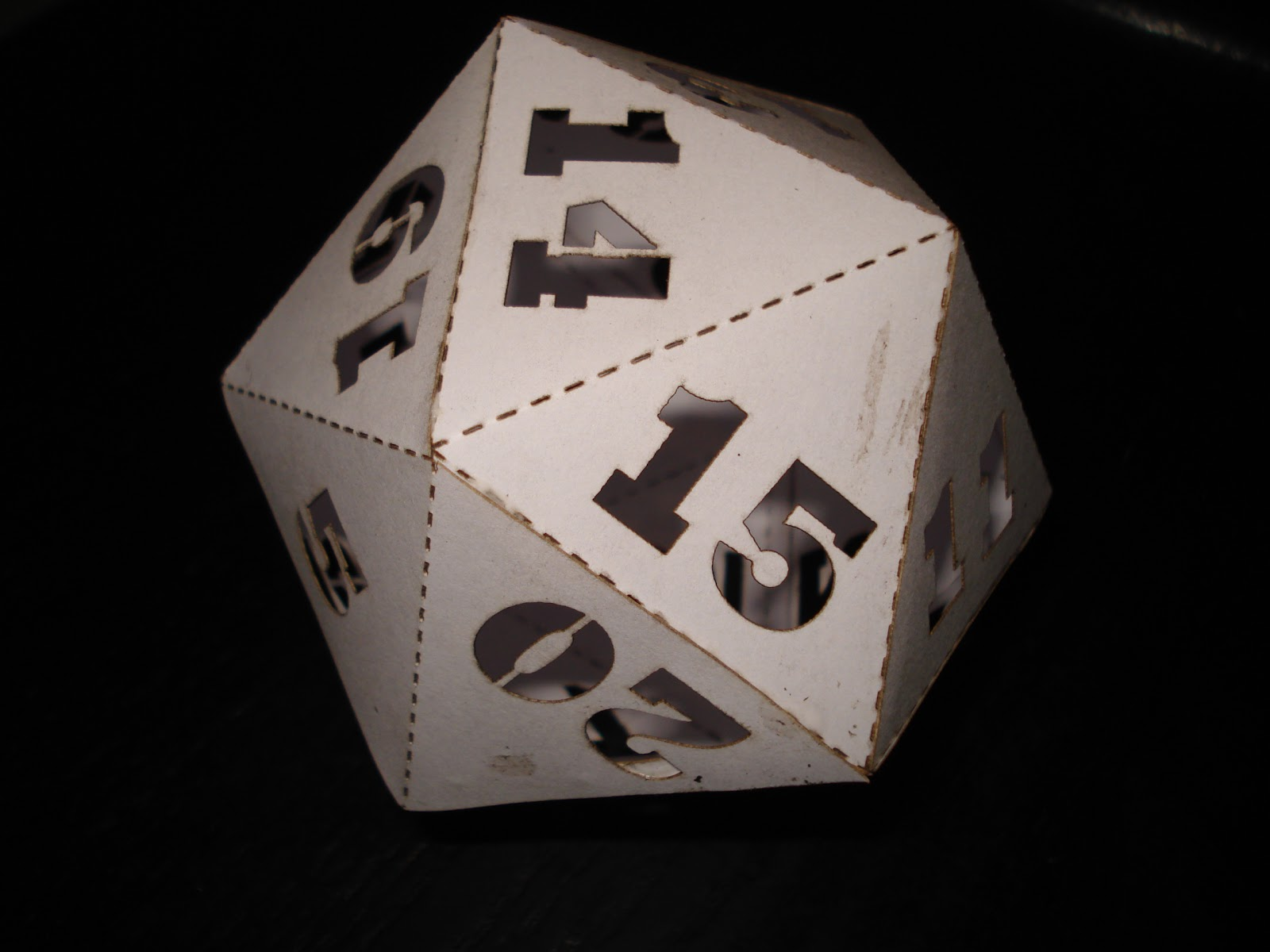 Laser Cut D20 Dice Dungeons Dragons Free Vector