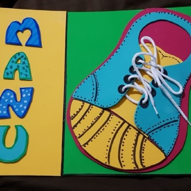 Laser Cut Wooden Lacing Shoe Toy Learn To Tie Shoelaces Game For Kids Free Vector
