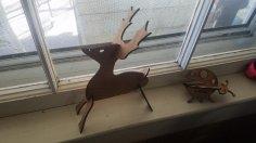 Laser Cut 3D Deer Template SVG File