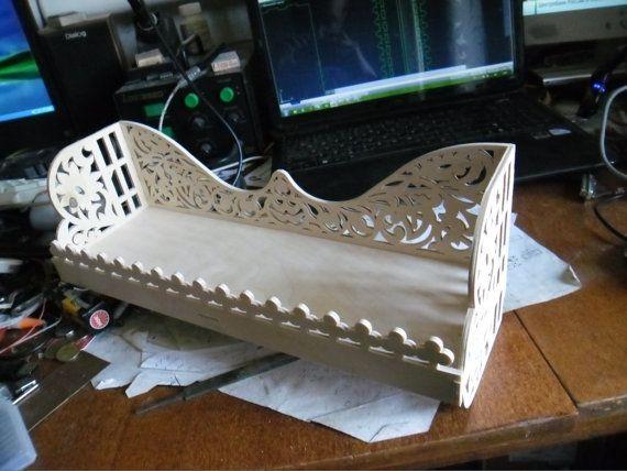 Laser Cut Decorative Rack or Shelf Template Free Vector