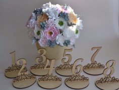 Laser Cut Table Numbers Plywood Templates Free Vector