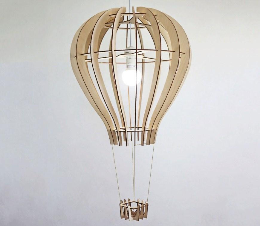 Laser Cut Balloon Design Ceiling Lamp Template Free Vector