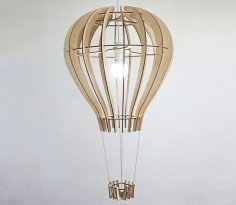 Laser Cut Balloon Design Ceiling Lamp Template Free Vector
