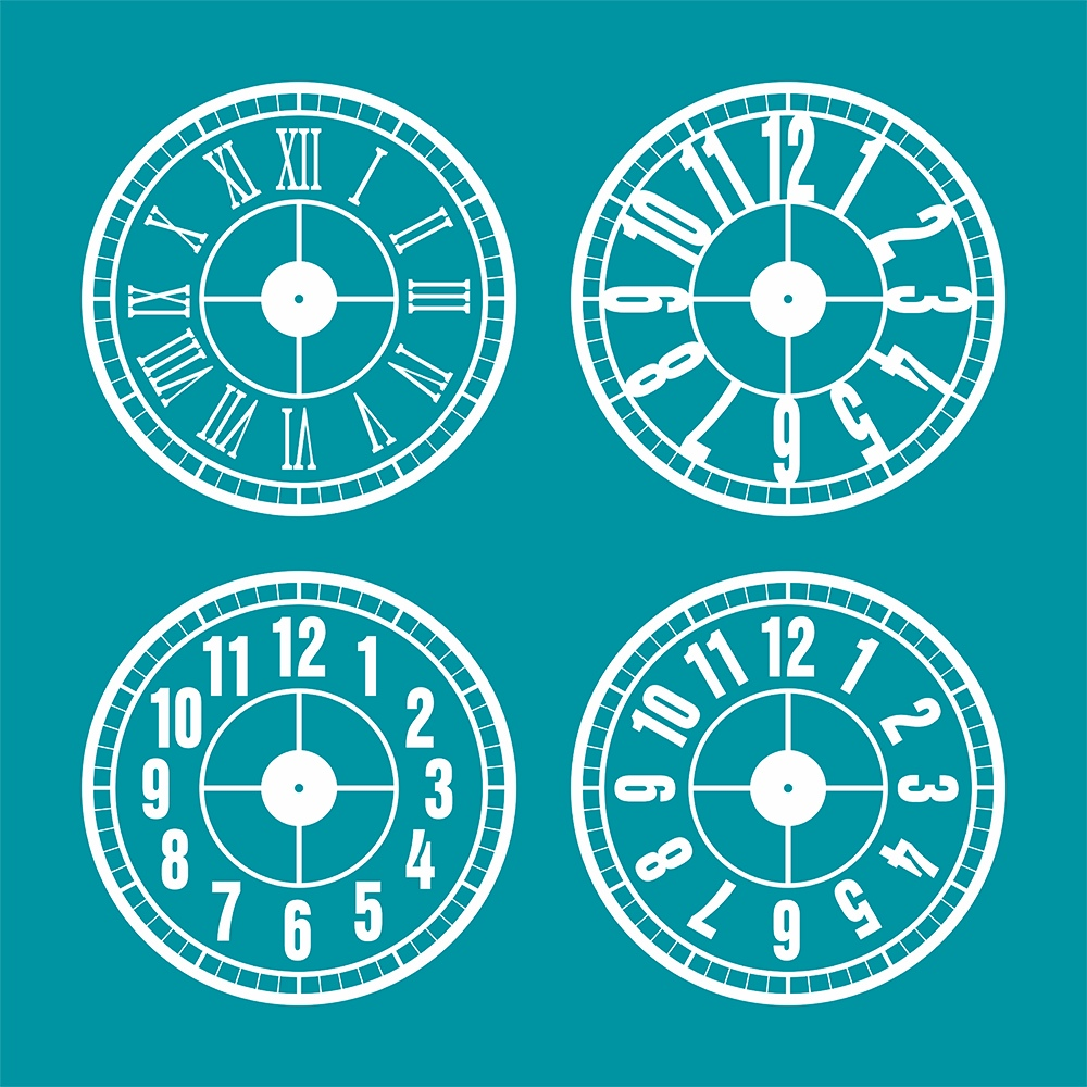 Printable Clock Faces DXF File