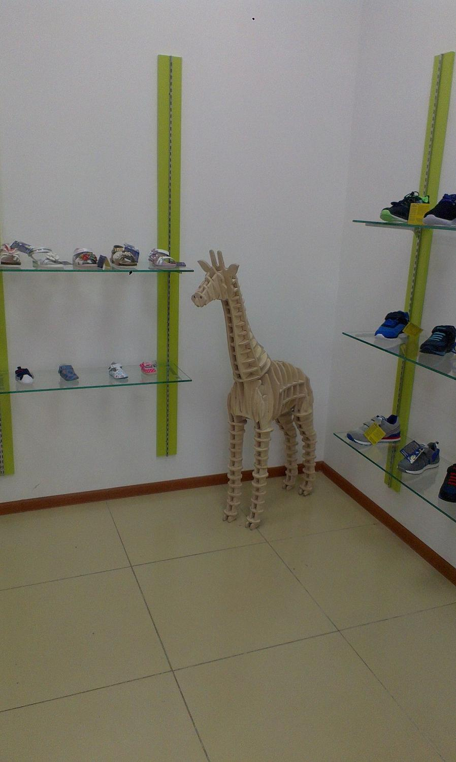 Laser Cut Giraffe 3D Plywood Puzzle 10mm Free Vector