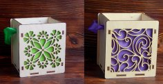 Laser Cut Wooden Decorative Gift Box Template Free Vector