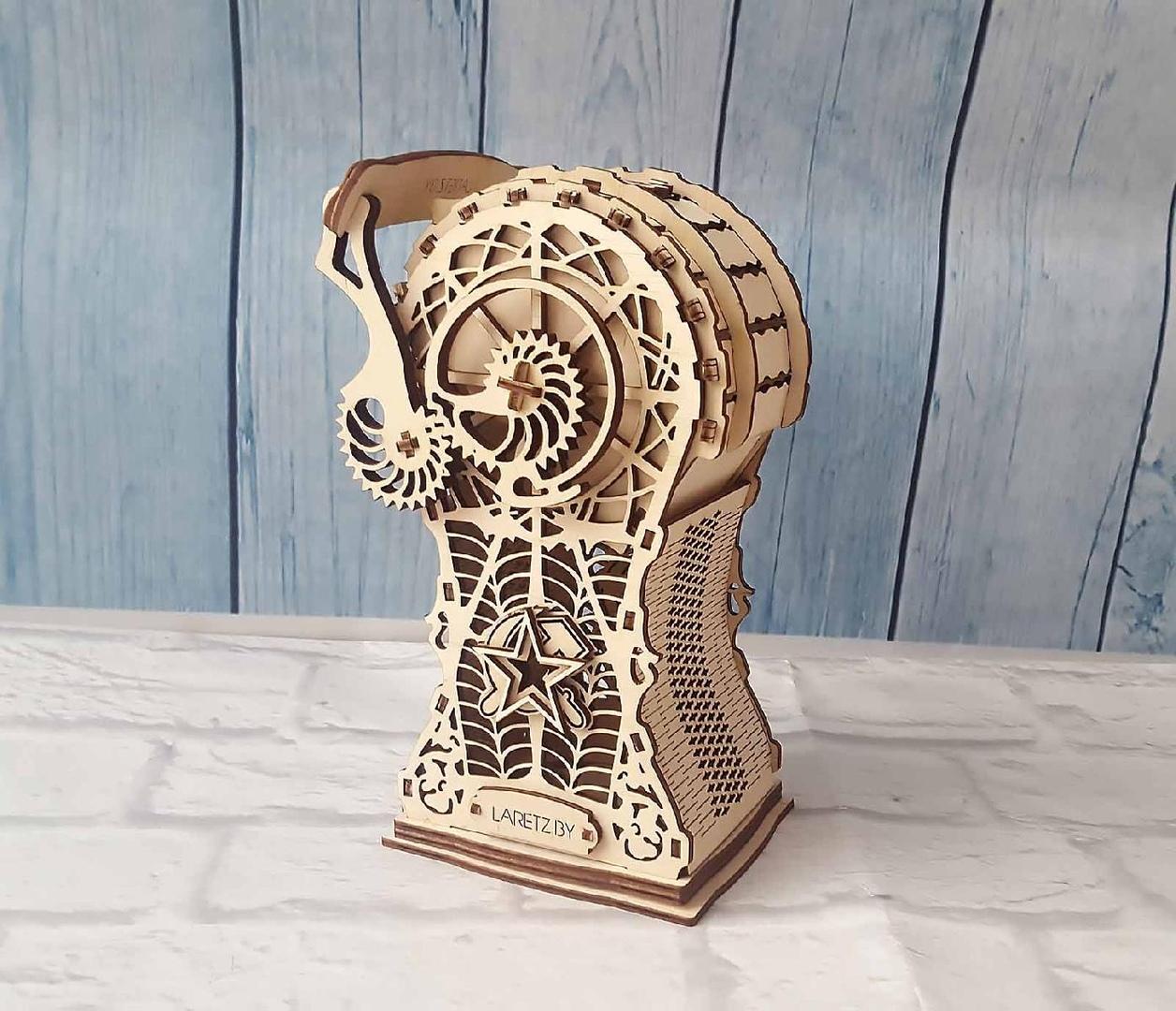 Laser Cut Wooden Decorative Piggy Bank 3mm Free Vector
