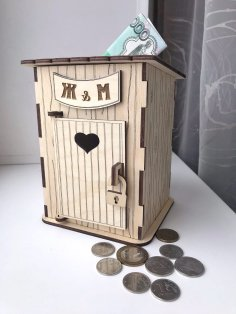 Laser Cut Toilet Piggy Bank Potty Piggy Bank Free Vector