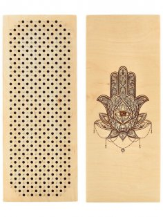 Laser Cut Wooden Sadhu Board 330x150mm Free Vector