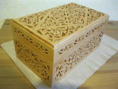 Laser Cut Decorative Wooden Box 6mm Free Vector
