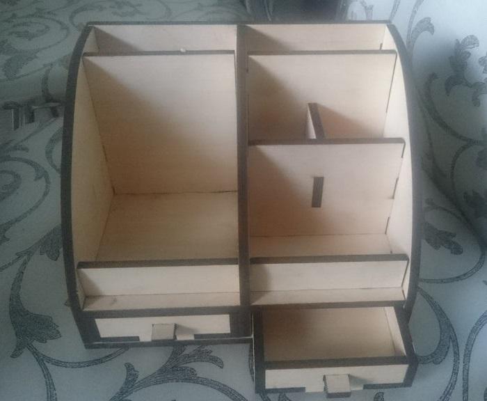 Laser Cut Desktop Organizer Desk Storage Rack Plywood 6mm Free Vector
