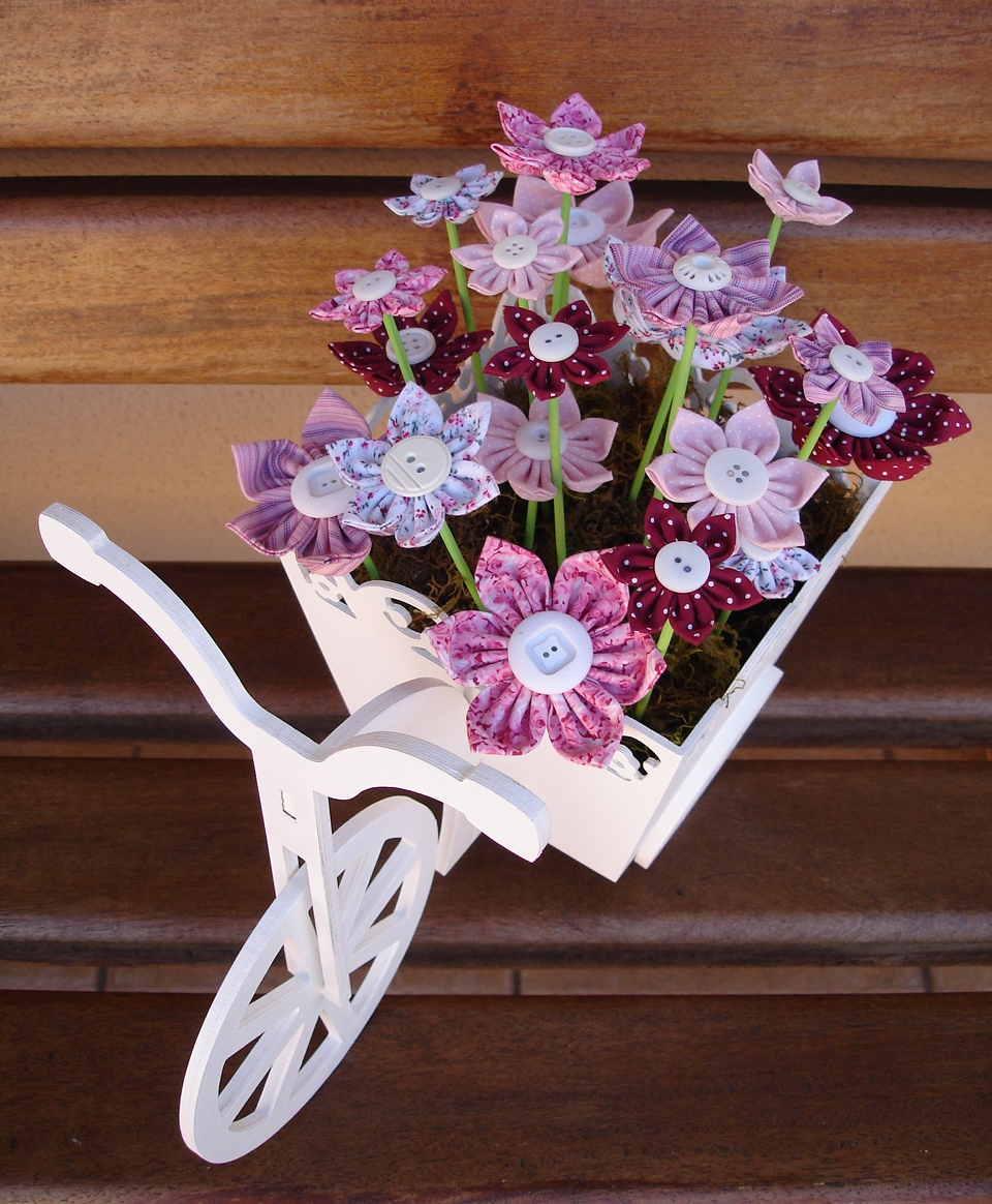 Laser Cut Wooden Tricycle Bike Flower Basket Free Vector