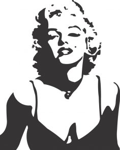 Laser Cut Engrave Marilyn Monroe Silhouette Free Vector