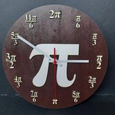 Laser Cut Pi Wall Clock DXF File
