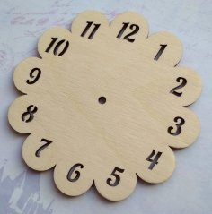 Laser Cut Wooden Unfinished Blank Wall Clock Free Vector