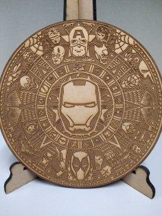 Laser Cut Engraved Marvel Mayan Calendar Free Vector