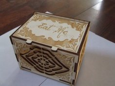 Laser Cut Wooden Cookie Box Wooden Box With Lid Free Vector