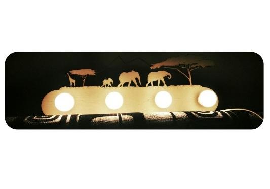 Jungle Animal Lamp Safari Lamp Laser Cutting Template Free Vector
