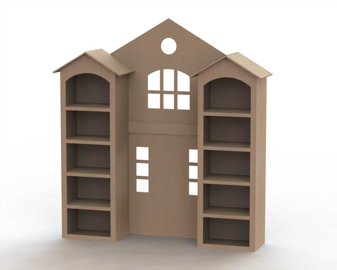 Furniture For Dollhouse Wooden Shelf Laser Cutting Template Free Vector