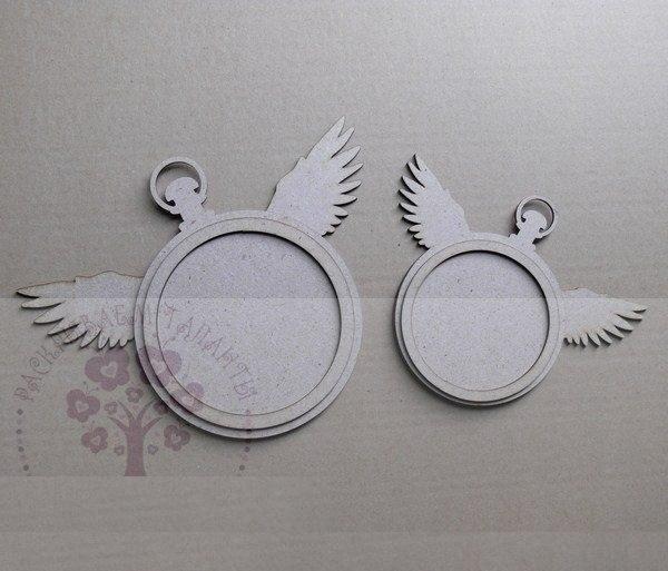 Laser Cut Wings Wall Clock Free Vector