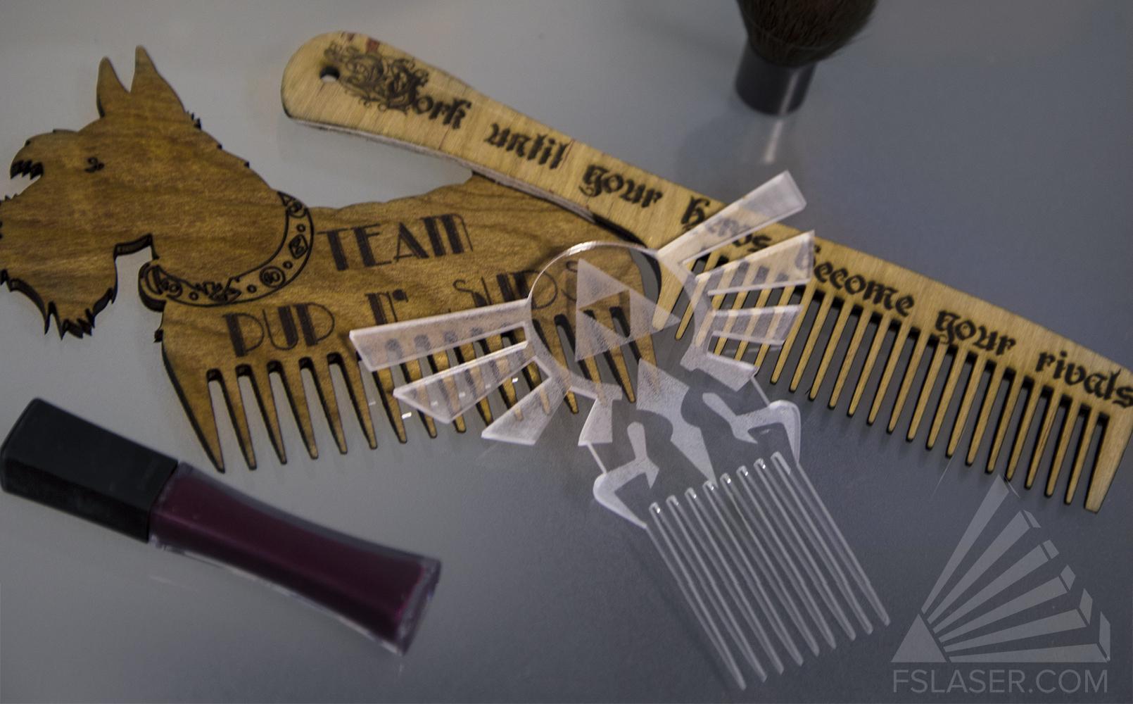Laser Cut Dog Comb SVG File