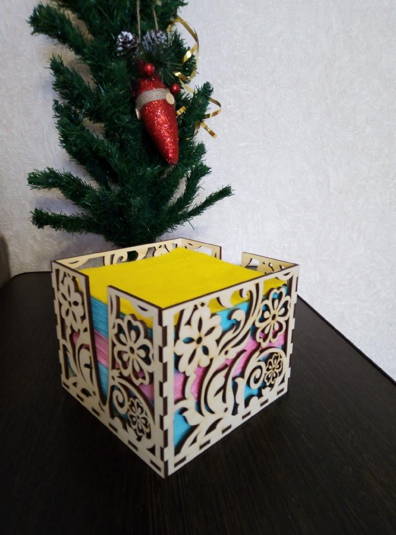 Laser Cut Wooden Napkin Holder Napkin Box 3mm DXF File