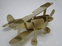 Laser Cut Vintage Retro Aircraft Biplane Plane Aircraft Model Free Vector