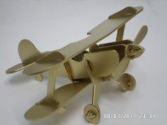 Laser Cut Vintage Retro Aircraft Biplane Plane Aircraft Model Free Vector