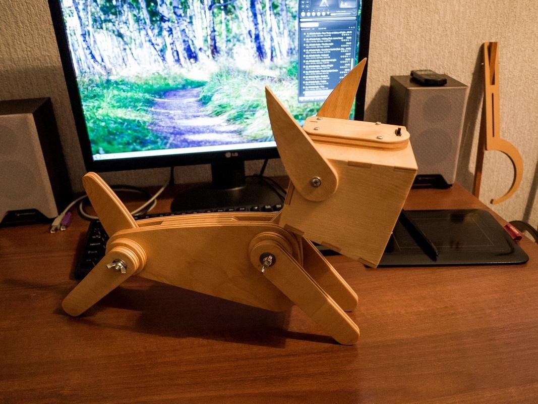 Laser Cut Cute Wooden Dog Design Adjustable Table Lamp Free Vector