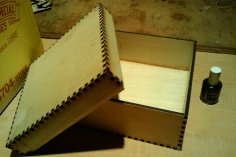 Laser Cut Small Box Template 5mm Marine Plywood DXF File