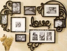 Love Picture Frame Set Wall Art Decoration Free Vector