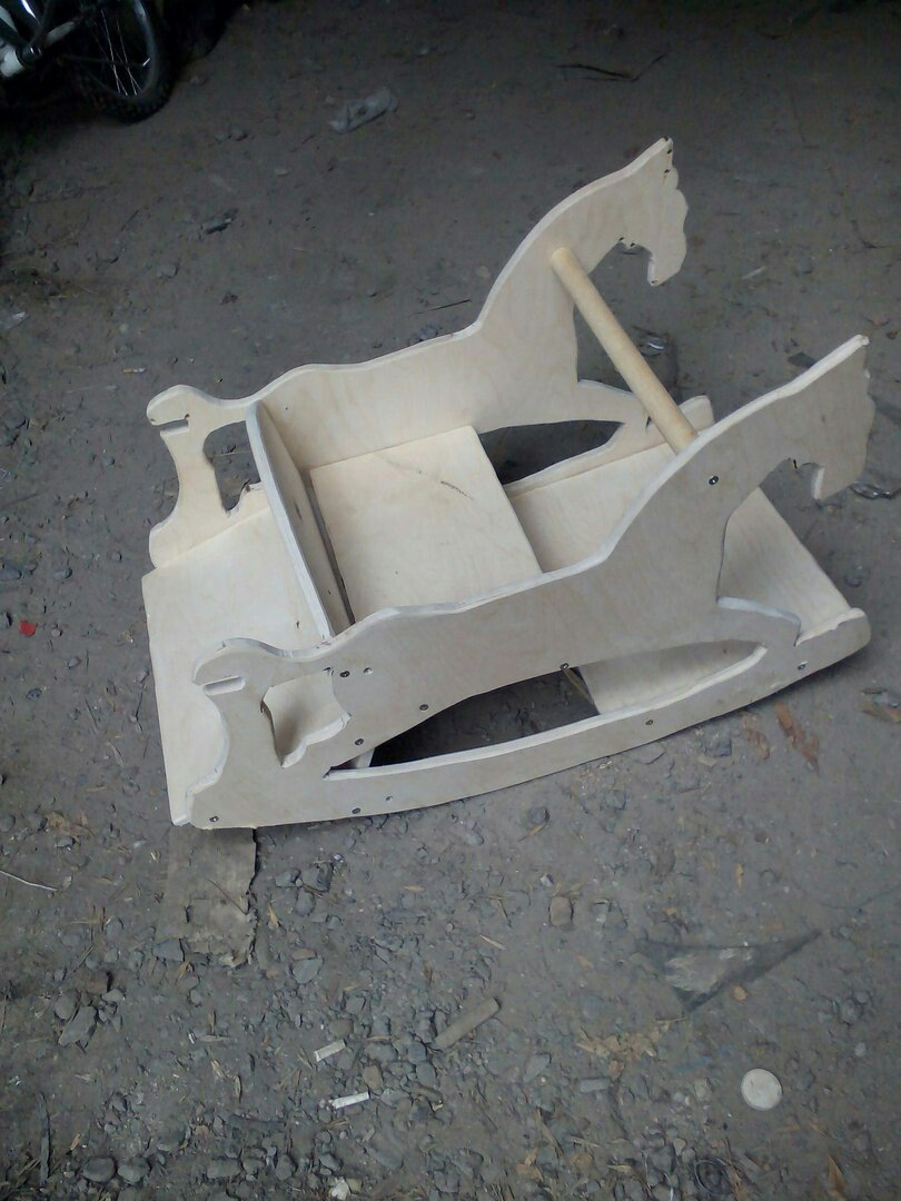 Laser Cut Rocking Horse Plywood 10mm Free Vector