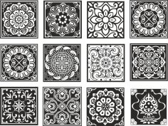Chinese Design Patterns Vector Set Free Vector