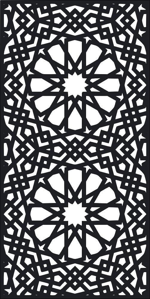 Laser Cut Screen Pattern Design Free Vector