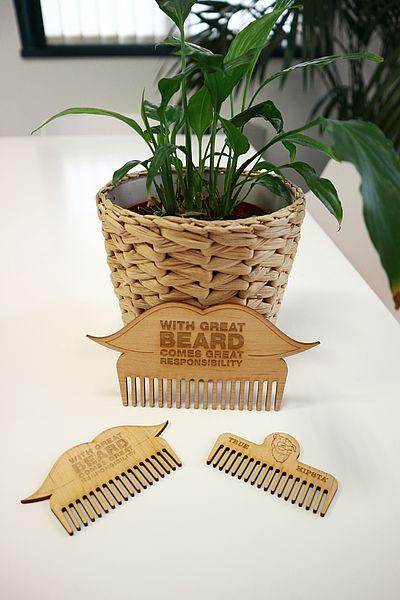 Laser Cut Wooden Beard Combs 3mm MDF PDF File