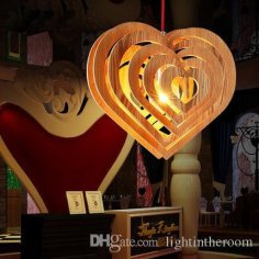 Laser Cut Heart Shape Lamp Free Vector
