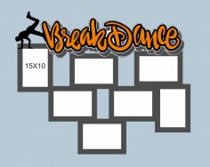 Laser Cut Break Dance Frame Free Vector
