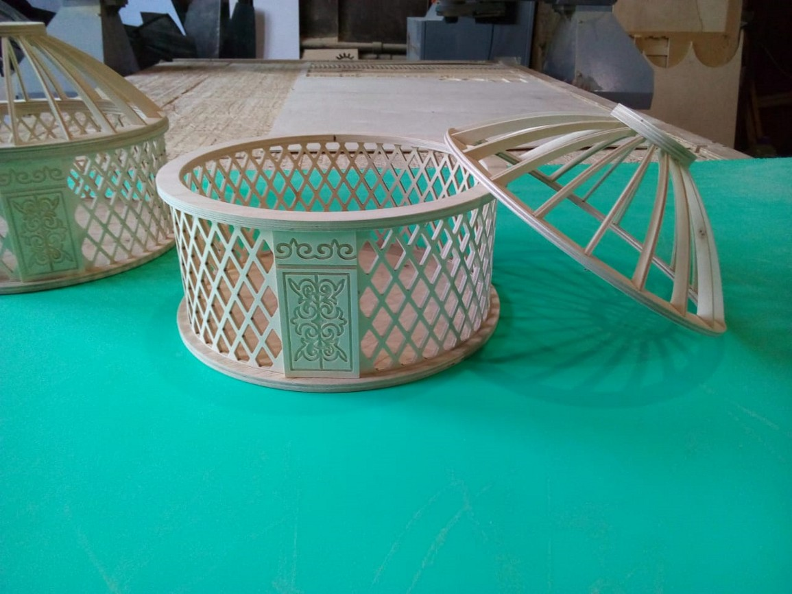 Mongolian Yurt Shaped Box DXF File