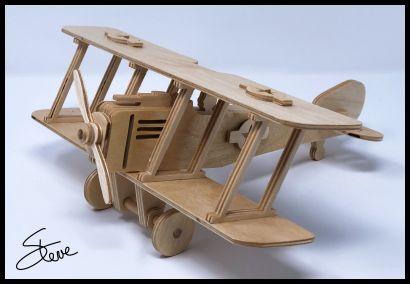 Biplane Plywood Model PDF File