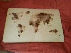 Laser Cut World Map Free Vector