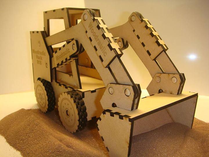 Laser Cut Toy Gift Bobcat Skid Steer Loader Free Vector