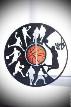 Basketball Clock DXF File