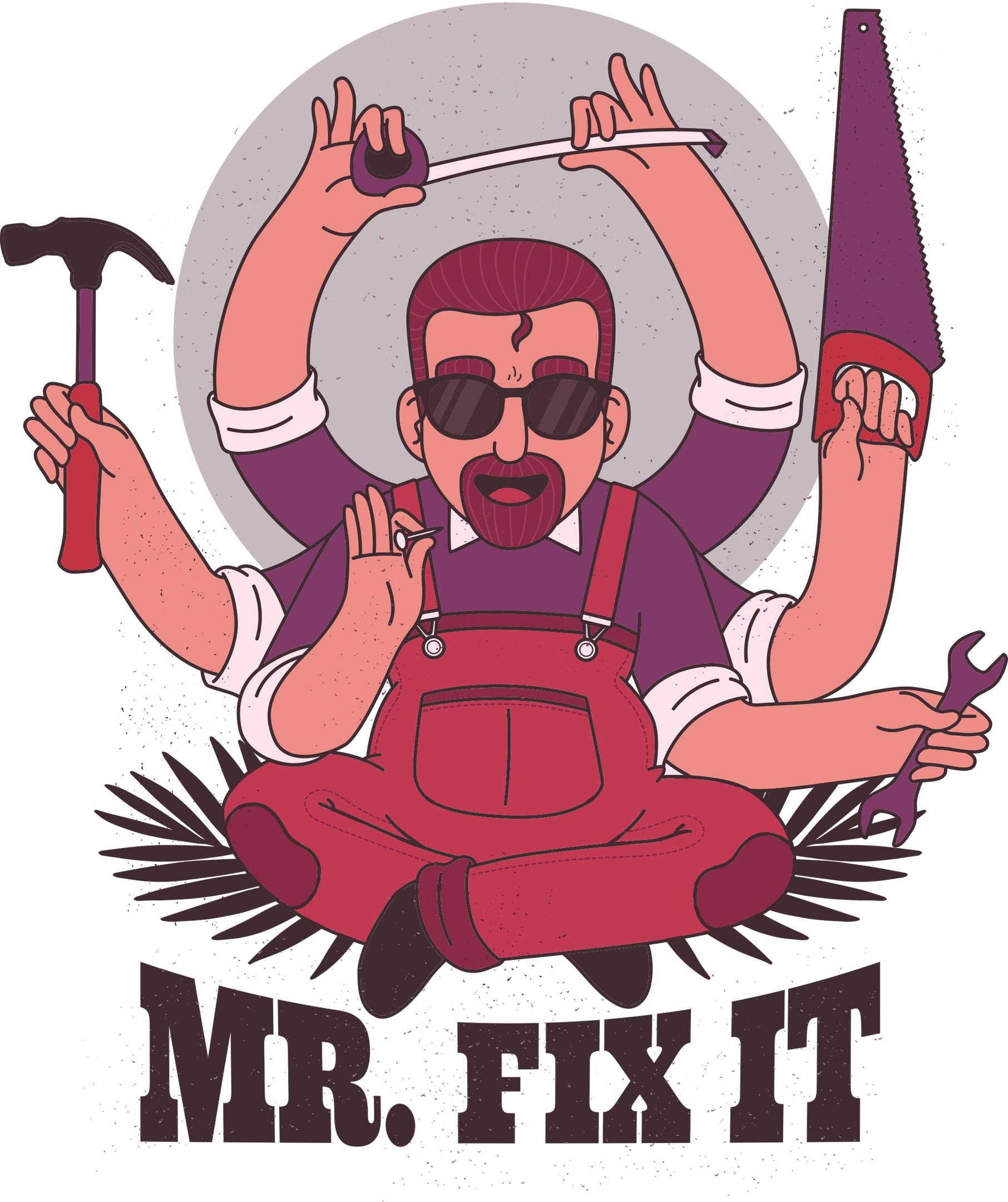 Mr Fix Print Free Vector