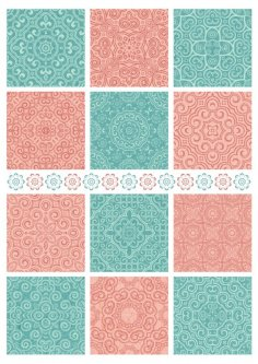 Seamless Textile Patterns Free Vector