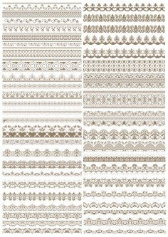 Fancy Lace Border Vectors Free Vector
