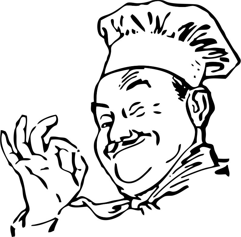 Chef Sticker Free Vector